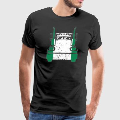 Nigerian Trucker Shirt Nigeria Flag Trucker Dad Shirt - Men's Premium T-Shirt