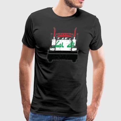 Iraqi Trucker Shirt Iraq Flag T Shirts Trucker Flag Shirt - Men's Premium T-Shirt