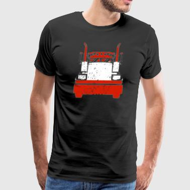 Austrian Trucker Shirt Austria Flag Long Haul Trucker - Men's Premium T-Shirt