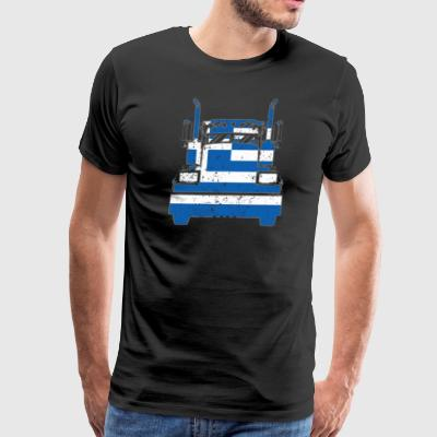 Greek Trucker Shirt Greece Flag Long Haul Trucker - Men's Premium T-Shirt