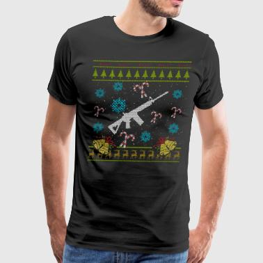 Guns For Christmas Ugly Sweater Military Shirt - Men's Premium T-Shirt