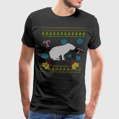 Pet Capybaras Christmas Sweater Shirt - Men's Premium T-Shirt