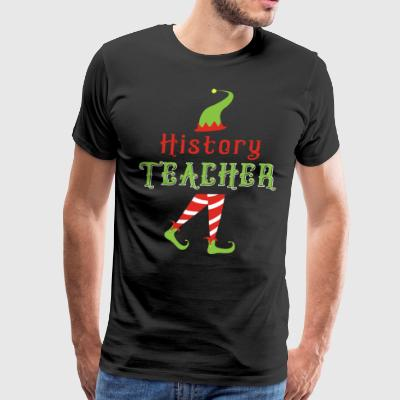 History Teacher Cute TEACHER ELF Christmas - Men's Premium T-Shirt