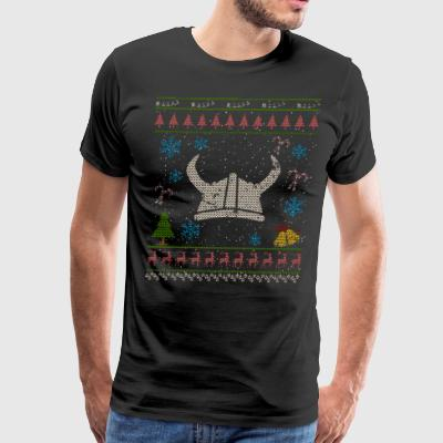Viking Helmet Christmas Ugly Shirt Viking Shirt - Men's Premium T-Shirt
