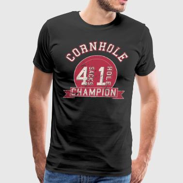 Cornhole Game 4 Sacks 1 Hole Cornhole - Men's Premium T-Shirt