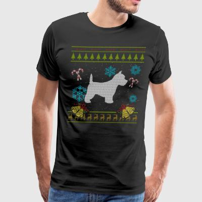 West Highland White Terrier Shirt Christmas Ugly Sweater - Men's Premium T-Shirt