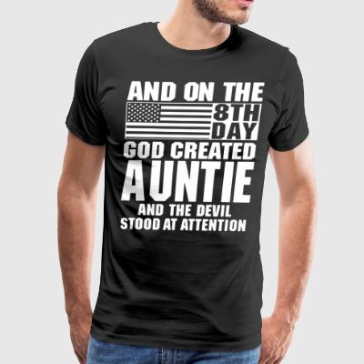 And on the 8th day god auntie and the devil stood - Men's Premium T-Shirt