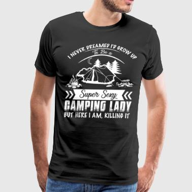 Funny camping tee shirts Lady - Men's Premium T-Shirt