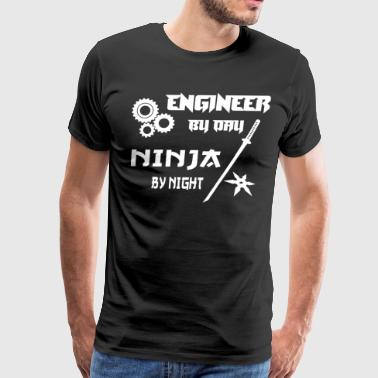 ENGINEER GEARS BY DAY NINJA BY NIGHT WITH SWORD - Men's Premium T-Shirt
