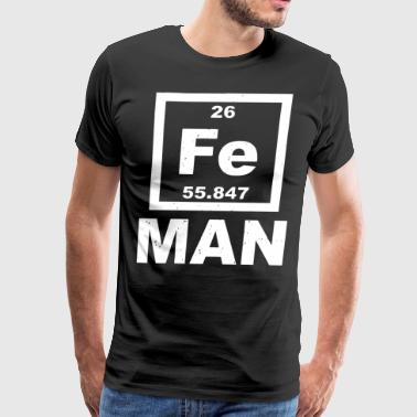 Iron Man Fe Periodic Table Elements Science - Men's Premium T-Shirt