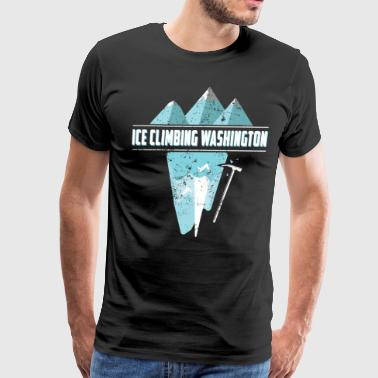 Ice Climbing Washington Ice Climbing Pick Axe Shirt - Men's Premium T-Shirt