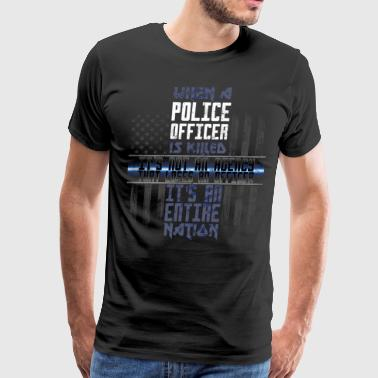Police Lives Matter Support The Police Police Flags - Men's Premium T-Shirt
