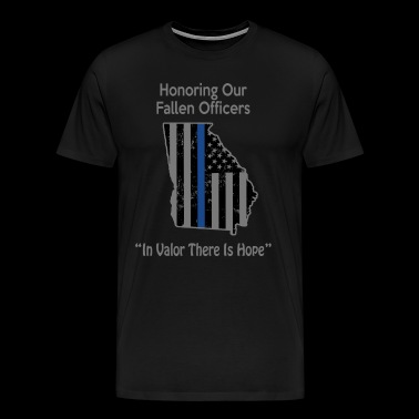 Georgia Police Support The Police Gifts Retired Police - Men's Premium T-Shirt