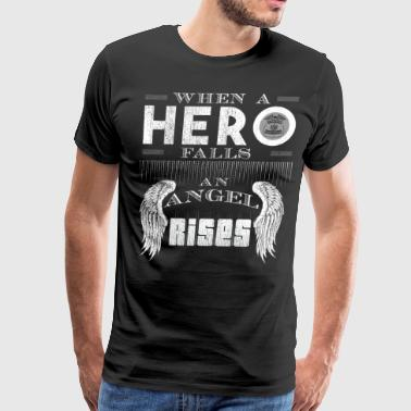 When A Hero Falls An Angel Rises State Trooper - Men's Premium T-Shirt