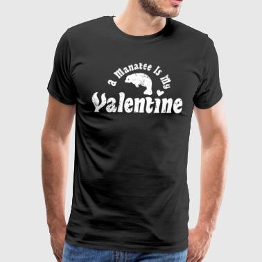 My Anti Valentine Manatee Zoology Zoologist - Men's Premium T-Shirt