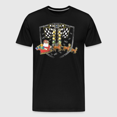 Drag Race Christmas Tree Drag Racing Lights - Men's Premium T-Shirt