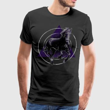 Horse Gifts For Women Running Friesian Horse Shirt Gift - Men's Premium T-Shirt