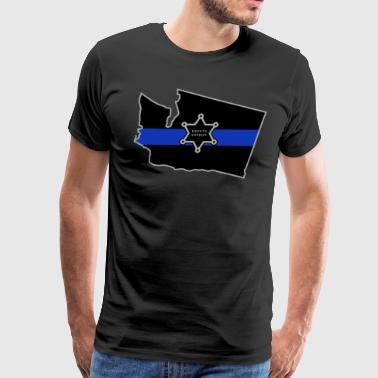 Washington Deputy Sheriff T Shirt Thin Blue Line - Men's Premium T-Shirt