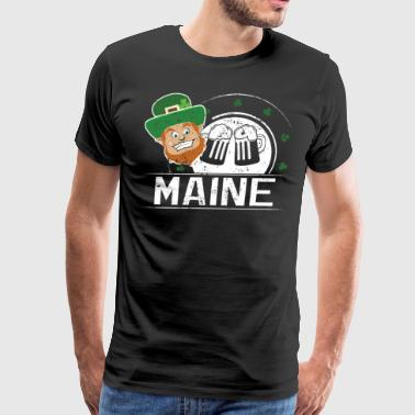 St Pattys Day Party Maine St Patricks Gifts Shamrock - Men's Premium T-Shirt
