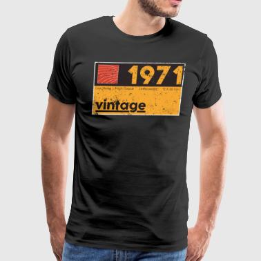 Music Producer T Shirt 1971 Vintage Cassette Birthday Shirt - Men's Premium T-Shirt