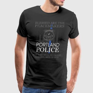 Portland Police Support Blessed Peacemakers Police Tee - Men's Premium T-Shirt