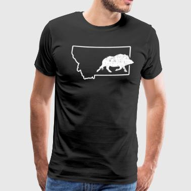 Wild Boar Hunting Shirt Montana Feral Hog Hunting - Men's Premium T-Shirt