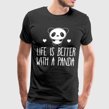 Life Is Better With A Panda Animal Bear Hearts son - Men's Premium T-Shirt