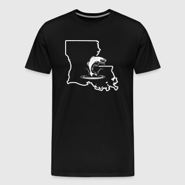 Bass Fishing Apparel Louisiana Bass Fishing Gift Shirt - Men's Premium T-Shirt