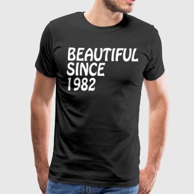 Beautiful Since 1982 Best Friend Funny Birthday Gifts - Men's Premium T-Shirt