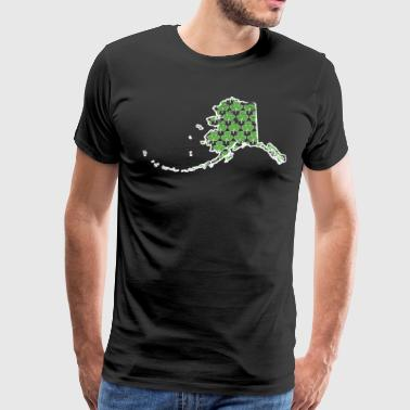 Real Shamrock Alaska St Pattys Day Outfits For Women - Men's Premium T-Shirt