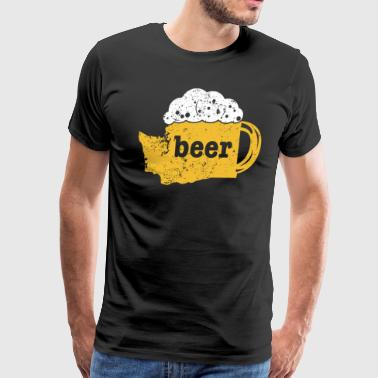 Craft Beer Cool Beer Shirt Washington Funny Beer Pong - Men's Premium T-Shirt