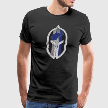 West Virginia State Police T Shirt Spartan Helmet - Men's Premium T-Shirt