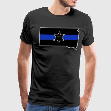 South Dakota Deputy Sheriff T Shirt Thin Blue Line - Men's Premium T-Shirt
