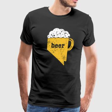 Home Brew Beer Funny Nevada Funny Beer Apparel - Men's Premium T-Shirt