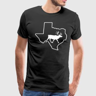Caribou Hunting Texas Big Game Bow Hunting - Men's Premium T-Shirt