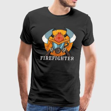 Firefighter - Fire Brigade Hero Emergency Courage - Men's Premium T-Shirt
