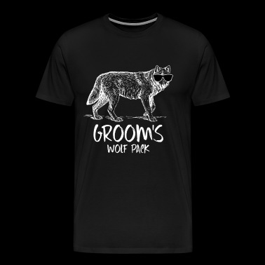 Groom / Wolfpack - Funny Bachelor Party Shirts - Men's Premium T-Shirt