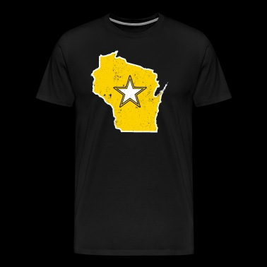 Wisconsin Army T Shirt Proud Army WIfe Proud Army Sister - Men's Premium T-Shirt