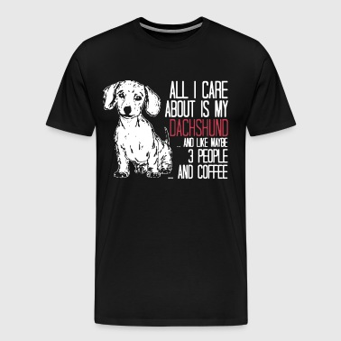 All I Care About Is My Dachshund and like maybe 3 - Men's Premium T-Shirt
