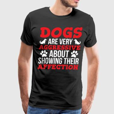 Dogs Affection Cute Dog Lover T-shirt - Men's Premium T-Shirt