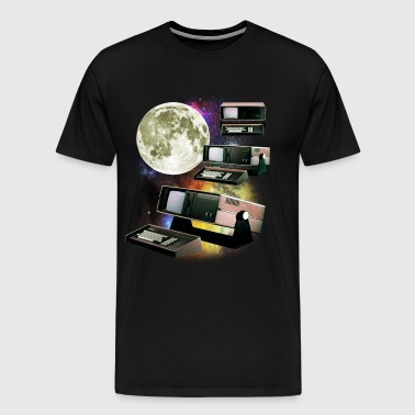 Computers in Space (Vintage Geek)  - Men's Premium T-Shirt