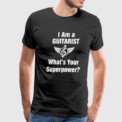 I am a Guitarist - What's your superpower? - Men's Premium T-Shirt