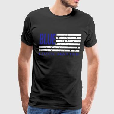 New Blue Lives Matter Black Baseball Raglan T Shir - Men's Premium T-Shirt