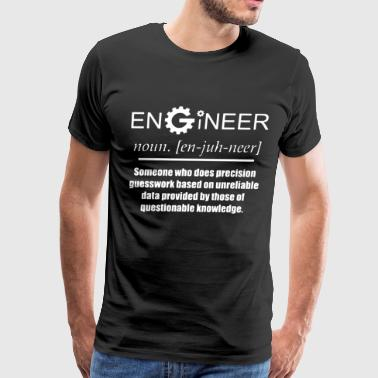 Engineer Noun Cog Design Funny Novelty Job Title M - Men's Premium T-Shirt