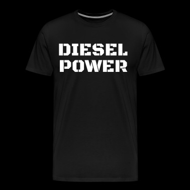 Diesel Power Diesels Roll Coal Roll Coal Trucker 4X4 White - Men's Premium T-Shirt