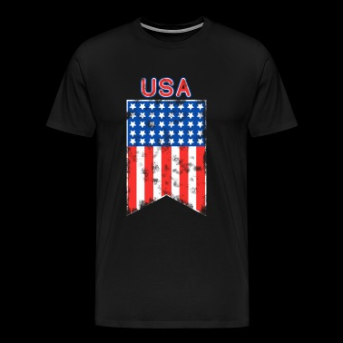 American Pride 4th of July Patriot USA Flag Pennant - Men's Premium T-Shirt