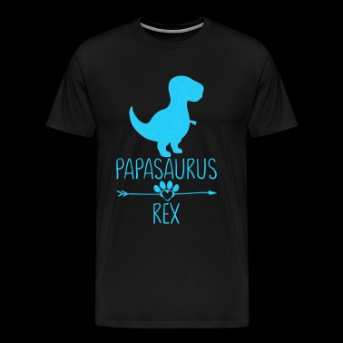 Papasaurus T-rex Daddy - Men's Premium T-Shirt