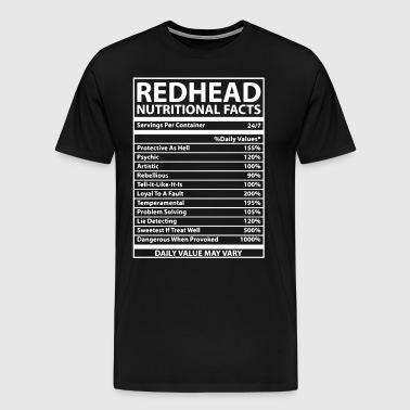 Redhead Nutritional Facts - Men's Premium T-Shirt