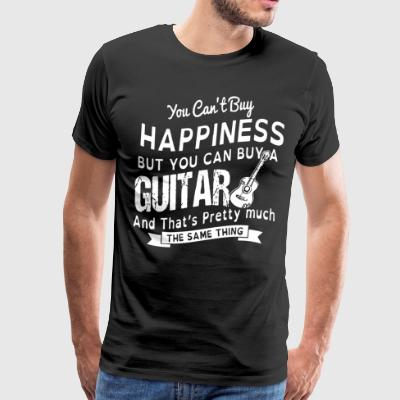 You can't buy happiness but you can buy a guitar a - Men's Premium T-Shirt
