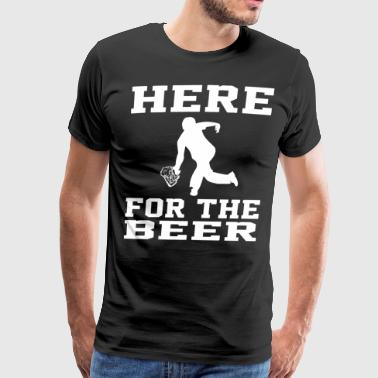 Here For The Beer Funny Bowling Drinking T S - Men's Premium T-Shirt